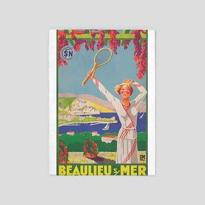 Beaulieu, France, Tennis; Vintage 5'x7'are