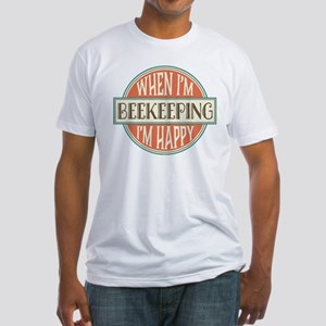 happy beekeeper Fitted T-Shirt
