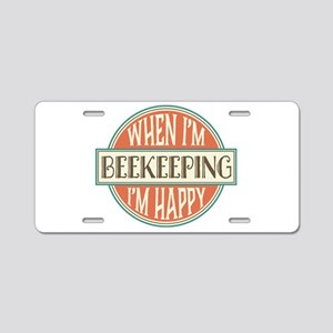 happy beekeeper Aluminum License Plate
