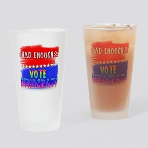 Rainbow Lettered HAD ENOUGH VOTE DE Drinking Glass
