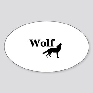 Wolf Sticker (Oval)