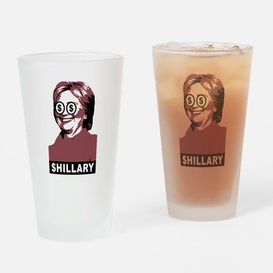 $hillary Clinton Drinking Glass