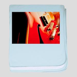 Jazz Guitar Closeup baby blanket