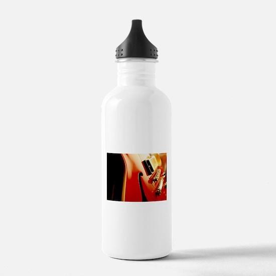 Jazz Guitar Closeup Water Bottle