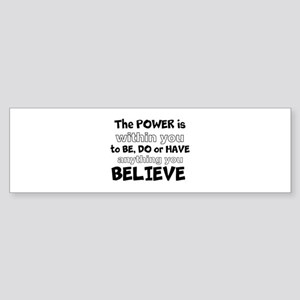 Powerful Inspirational Quote Bumper Sticker