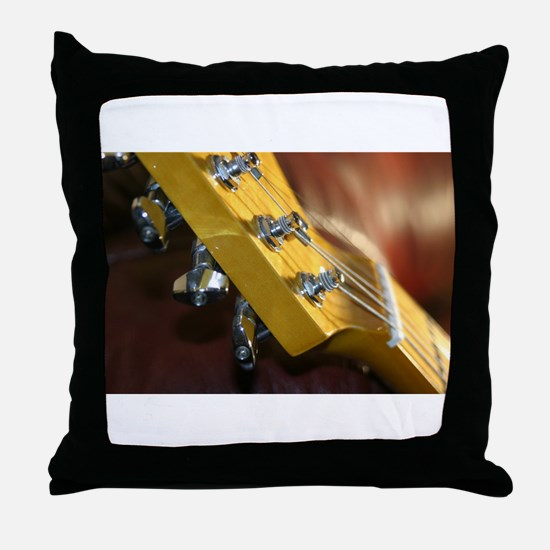 Guitar Headstock Throw Pillow