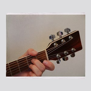 Guitar Player Throw Blanket
