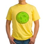 Green Moon Yellow T-Shirt, Back #1