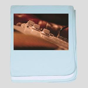 Close Up Guitar Volume baby blanket