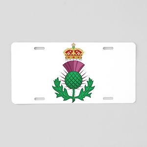 Thistle Symbol Of Scotland Aluminum License Plate