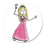 Pb Dancing Girl Round Car Magnet