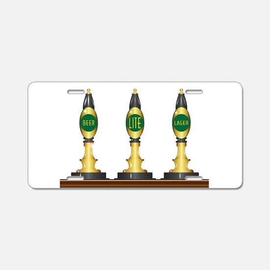 Isolated Beer Pumps Aluminum License Plate