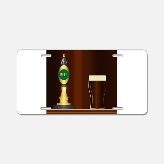 Beer On The Bar Aluminum License Plate