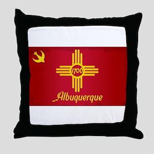 Albuquerque City Flag Throw Pillow
