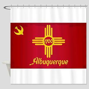 Albuquerque City Flag Shower Curtain