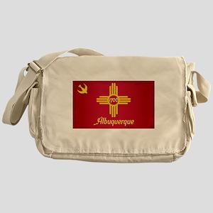 Albuquerque City Flag Messenger Bag