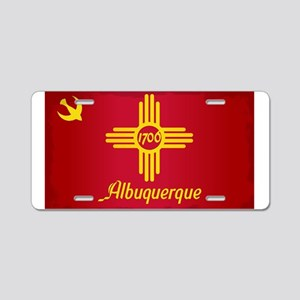 Albuquerque City Flag Aluminum License Plate