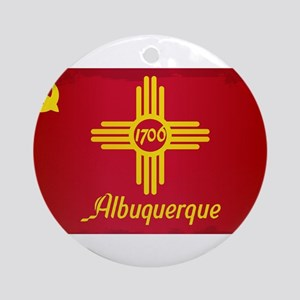 Albuquerque City Flag Round Ornament