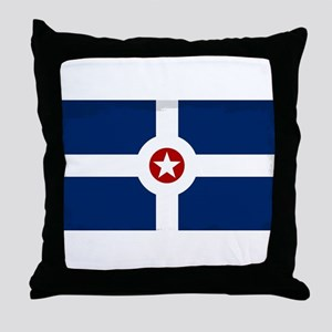 Indianapolis City Flag Throw Pillow