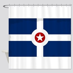 Indianapolis City Flag Shower Curtain