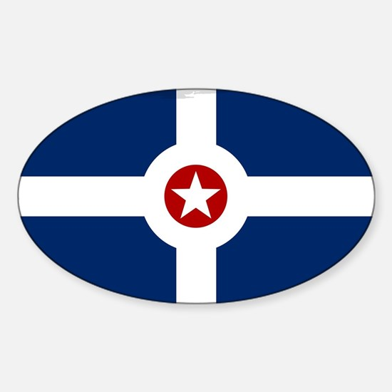 Indianapolis City Flag Decal