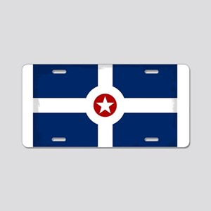 Indianapolis City Flag Aluminum License Plate