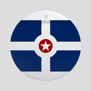 Indianapolis City Flag Round Ornament