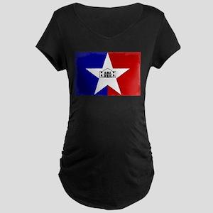 San Antonio City Flag Maternity T-Shirt