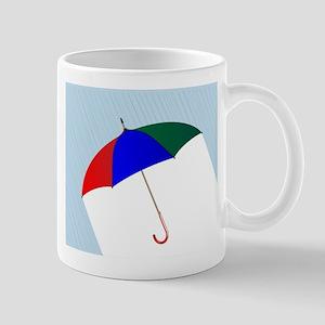 Umbrella In The Rain Mugs
