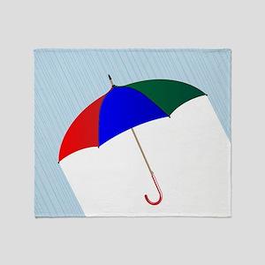 Umbrella In The Rain Throw Blanket