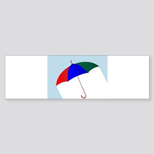 Umbrella In The Rain Bumper Sticker