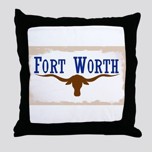 Flag of Fort Worth Throw Pillow