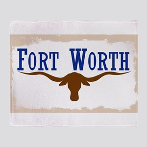 Flag of Fort Worth Throw Blanket