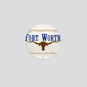 Flag of Fort Worth Mini Button