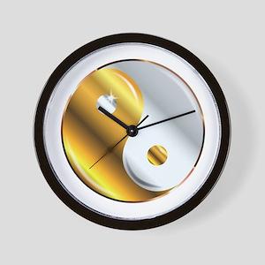 Yin and Yang Gold And Silver Wall Clock