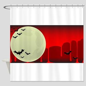 Vampire Bats Background Shower Curtain