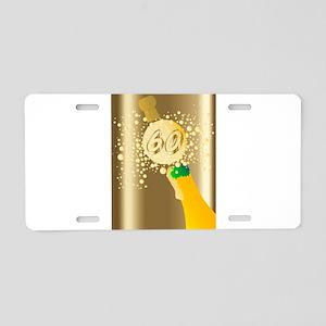 60 Champagne Aluminum License Plate