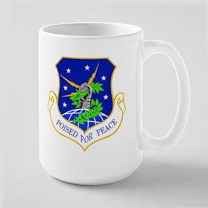 91st Missile Wing Crest Large Mug Mugs