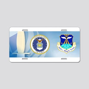 460th Space Wing Crest Aluminum License Plate