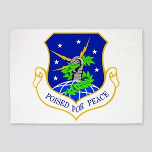 91st Missile Wing Crest 5'x7'Area Rug