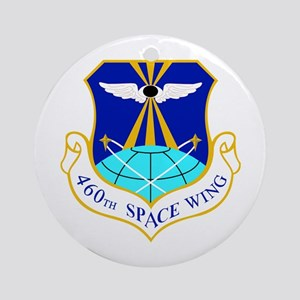 460th Space Wing Crest Round Ornament