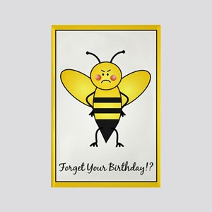 Birthday Bee Rectangle Magnet