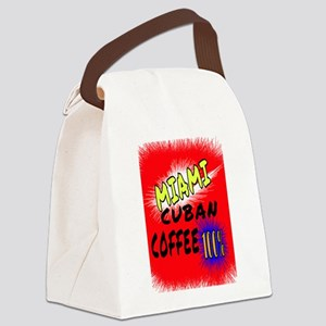 MIAMI CUBAN COFFEE 100% Canvas Lunch Bag