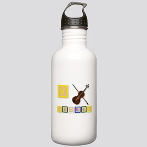 V Is For Violin Stainless Water Bottle 1.0L