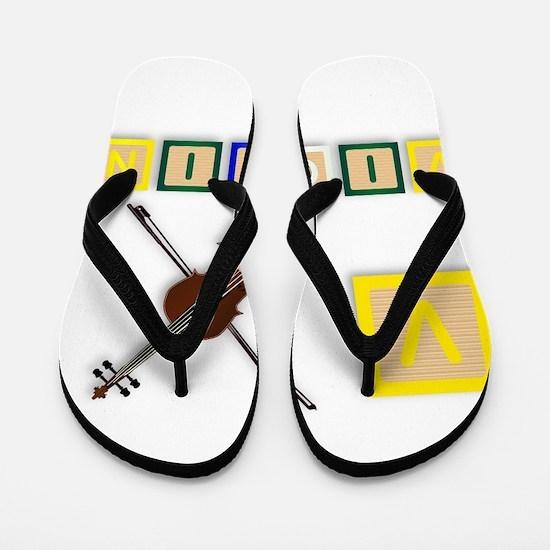 V Is For Violin Flip Flops