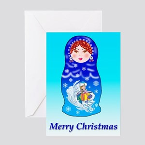 Nesting Doll Christmas Greeting Card