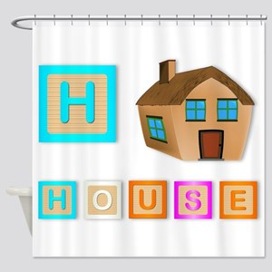 H Is For House Shower Curtain