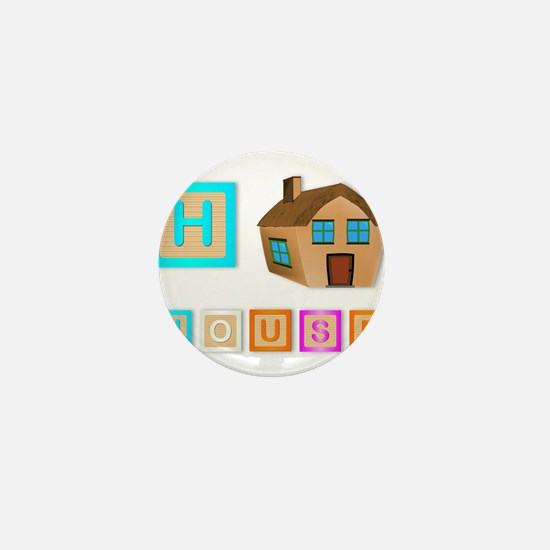H Is For House Mini Button