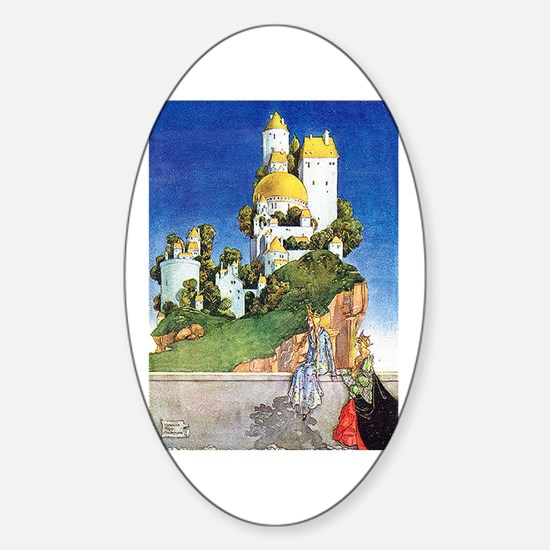 Fairy Tale Castle - Florence Mary A Sticker (Oval)