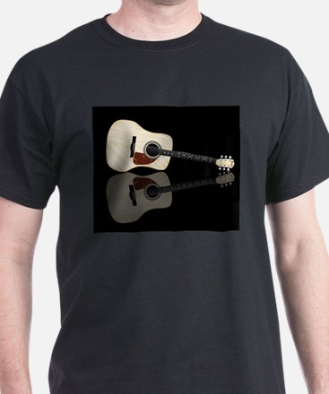 Pale Acoustic Guitar Reflection T-Shirt